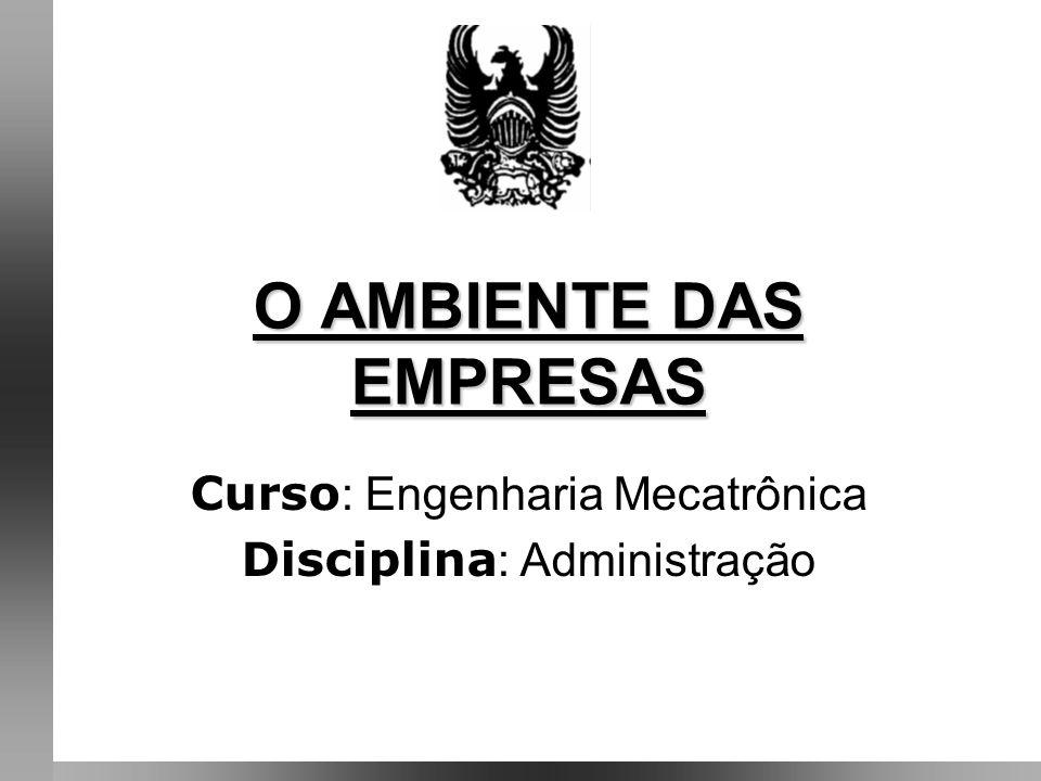 O AMBIENTE DAS EMPRESAS