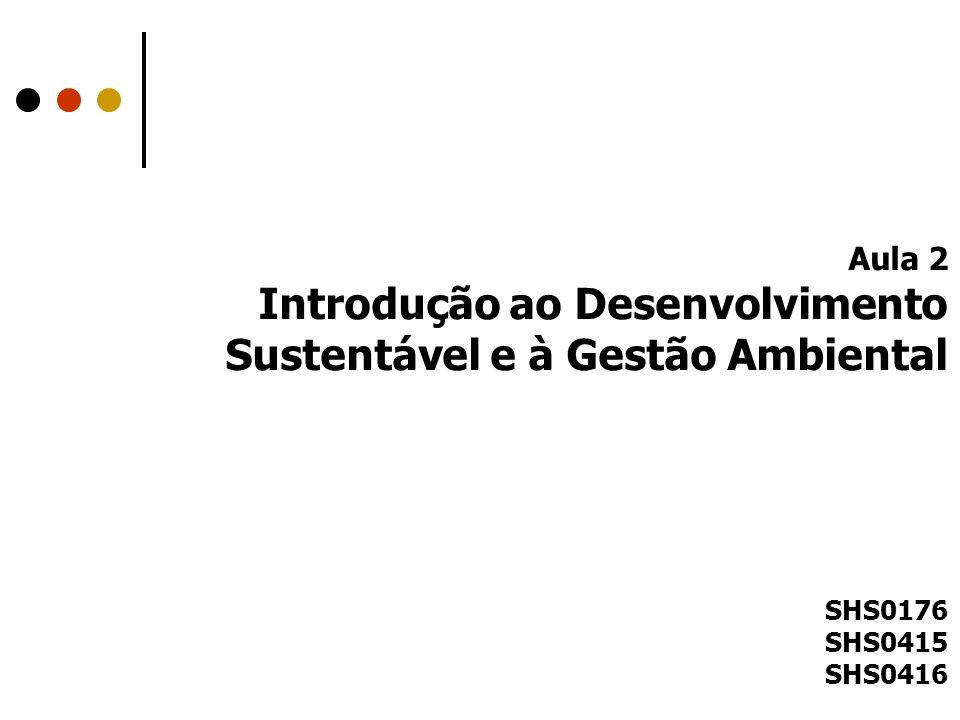 Introdução ao Desenvolvimento Sustentável e à Gestão Ambiental
