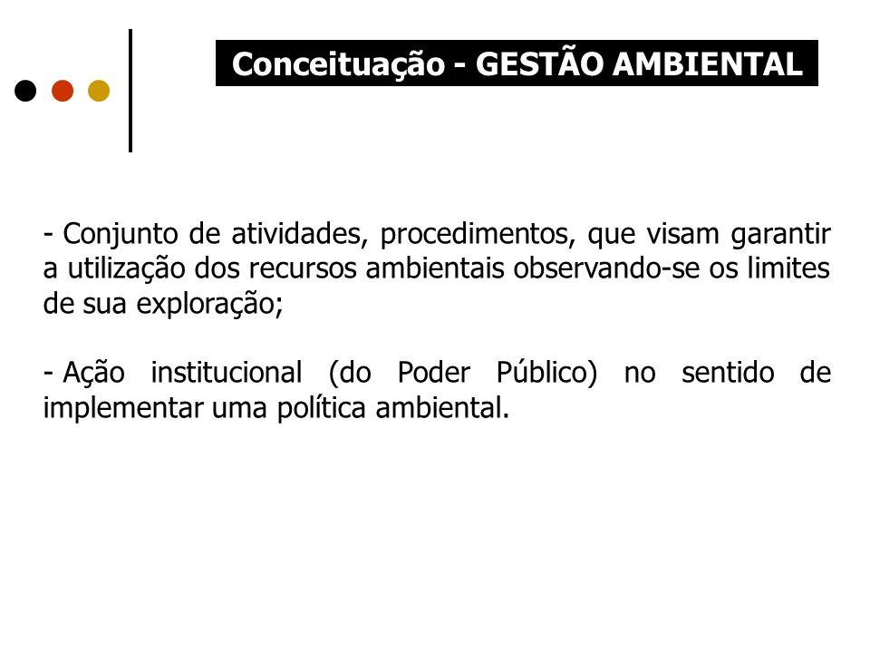 Conceituação - GESTÃO AMBIENTAL
