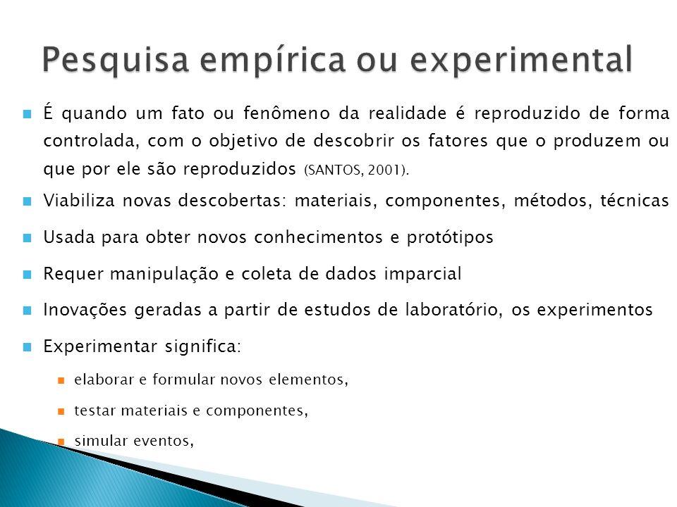 Pesquisa empírica ou experimental