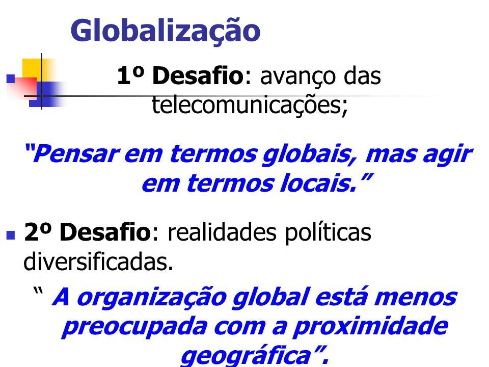 Pensar em termos globais, mas agir em termos locais.