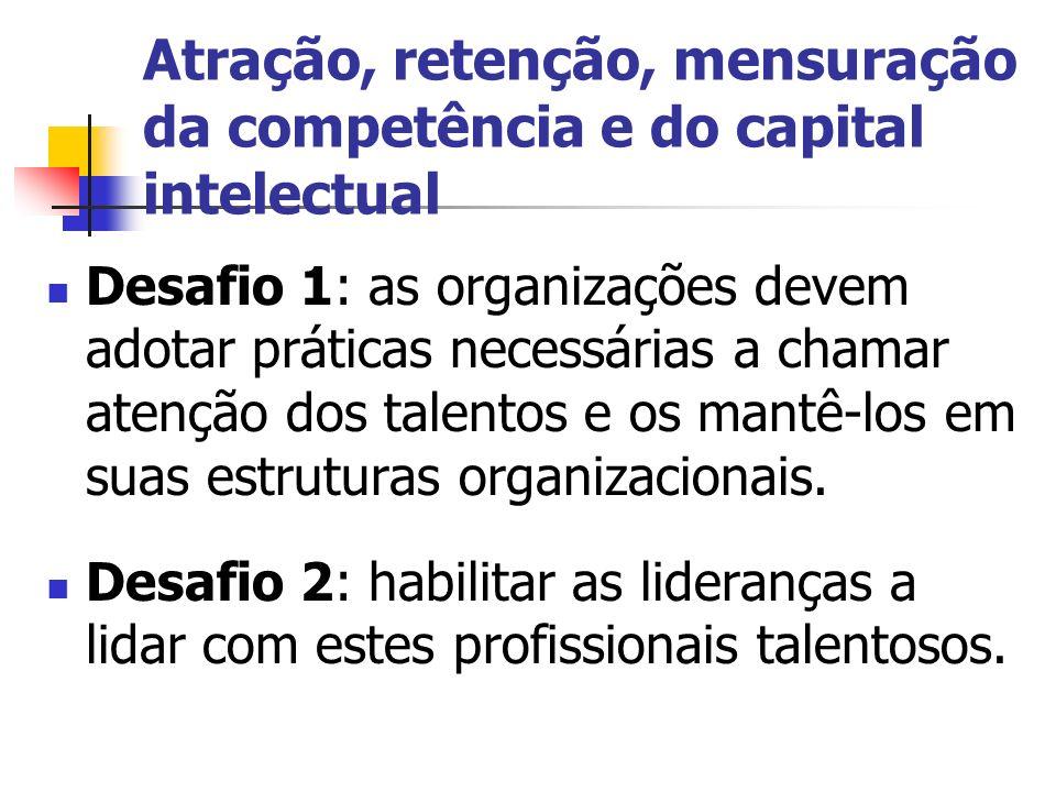 Atração, retenção, mensuração da competência e do capital intelectual