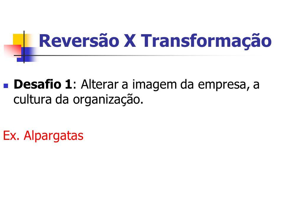 Reversão X Transformação