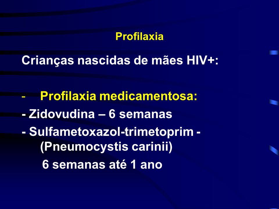 Crianças nascidas de mães HIV+: Profilaxia medicamentosa:
