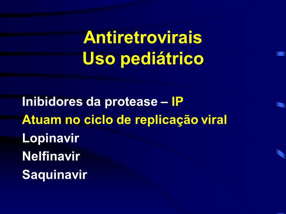 Antiretrovirais Uso pediátrico