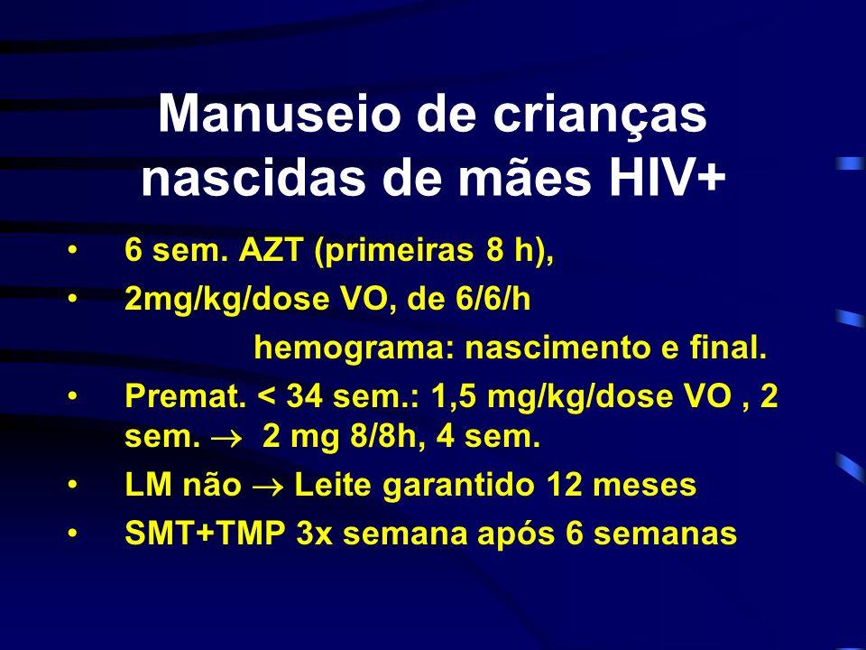 Manuseio de crianças nascidas de mães HIV+