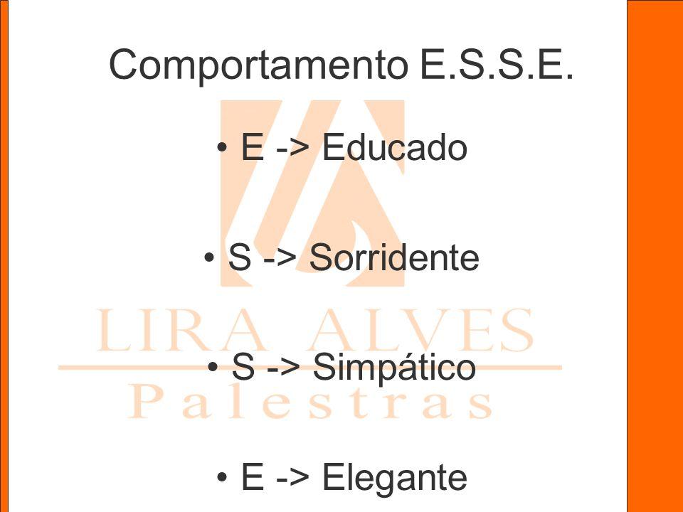 Comportamento E.S.S.E. E -> Educado S -> Sorridente