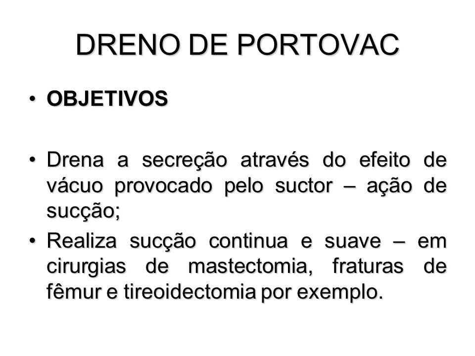DRENO DE PORTOVAC OBJETIVOS
