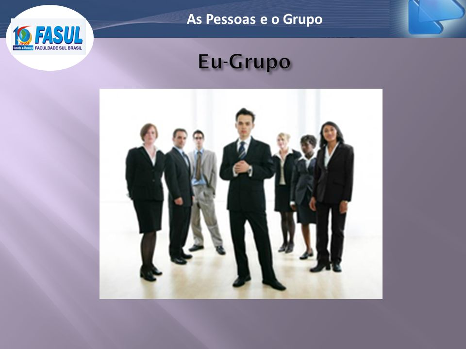 As Pessoas e o Grupo Eu-Grupo
