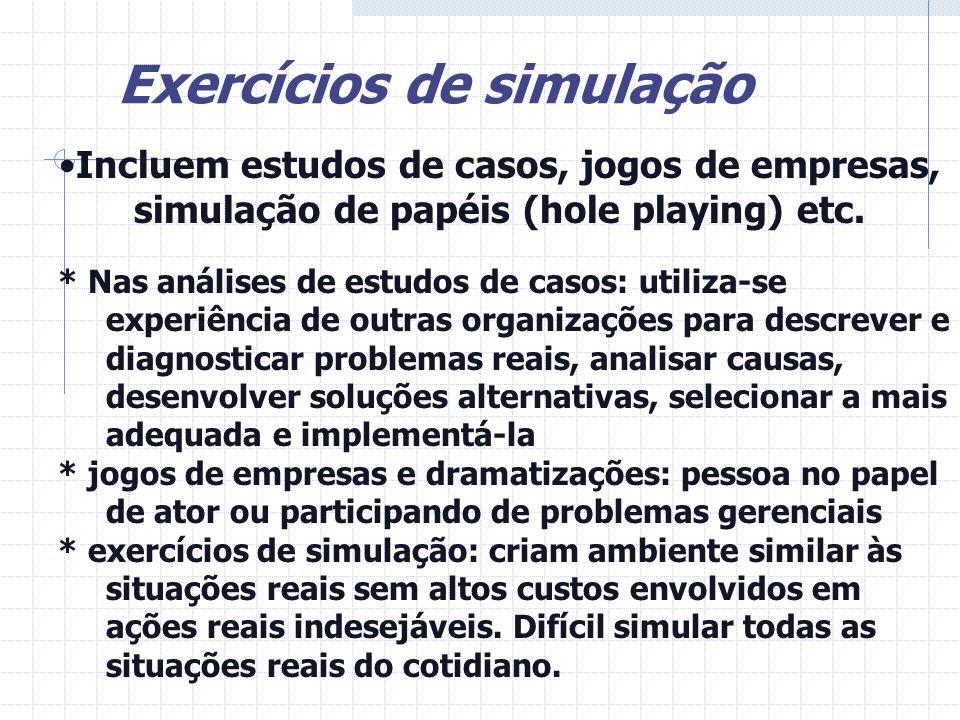 Exercícios de simulação