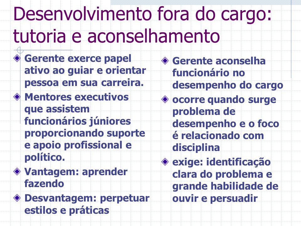 Desenvolvimento fora do cargo: tutoria e aconselhamento
