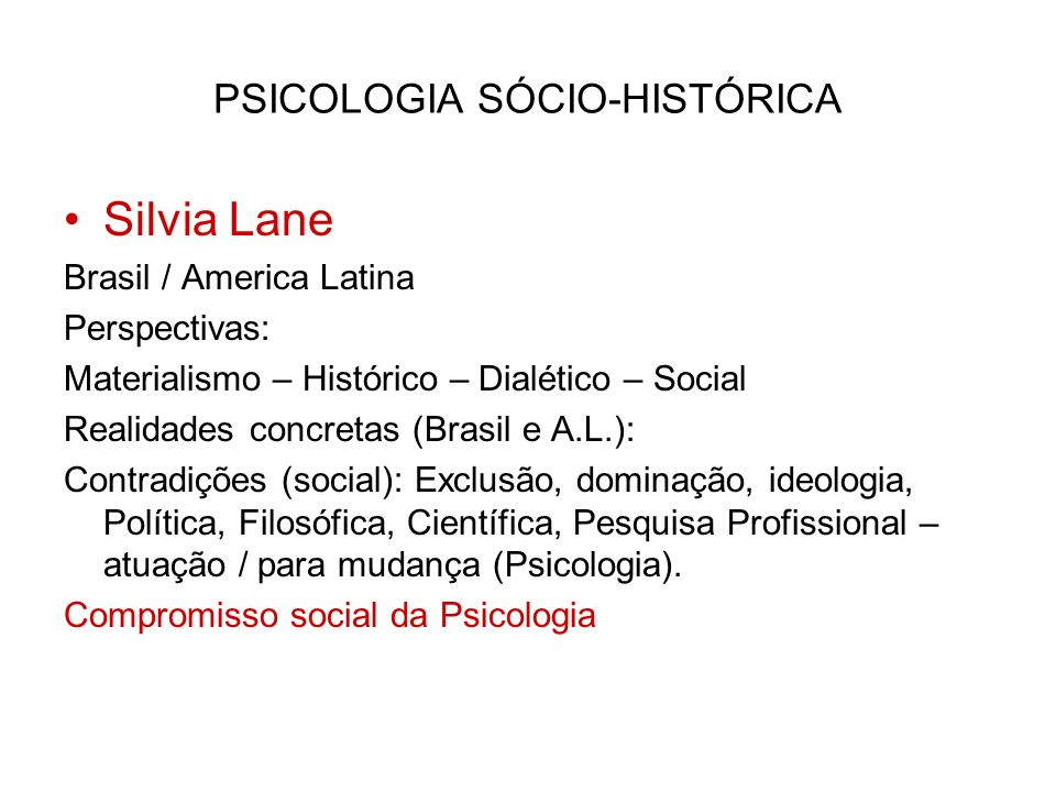 PSICOLOGIA SÓCIO-HISTÓRICA