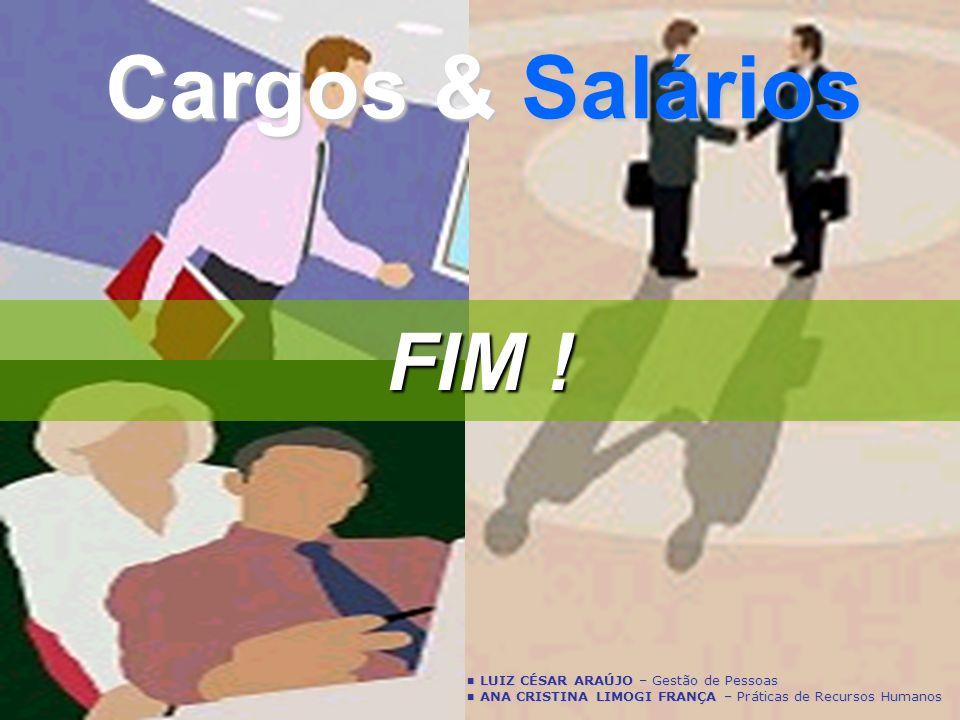 Cargos & Salários FIM ! LUIZ CÉSAR ARAÚJO – Gestão de Pessoas