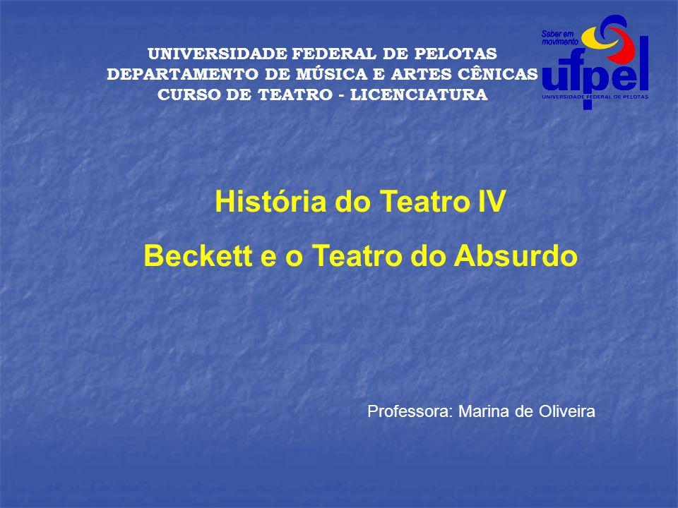 CURSO DE TEATRO - LICENCIATURA Beckett e o Teatro do Absurdo