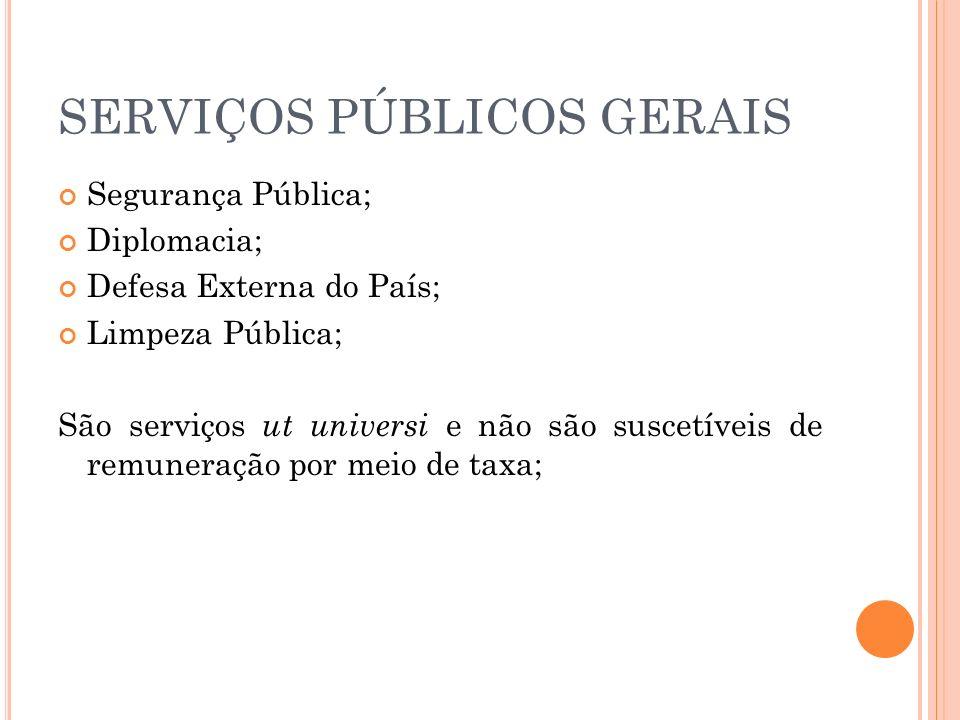 SERVIÇOS PÚBLICOS GERAIS