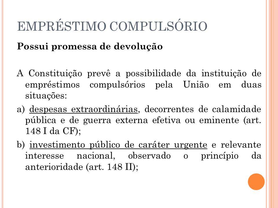 EMPRÉSTIMO COMPULSÓRIO