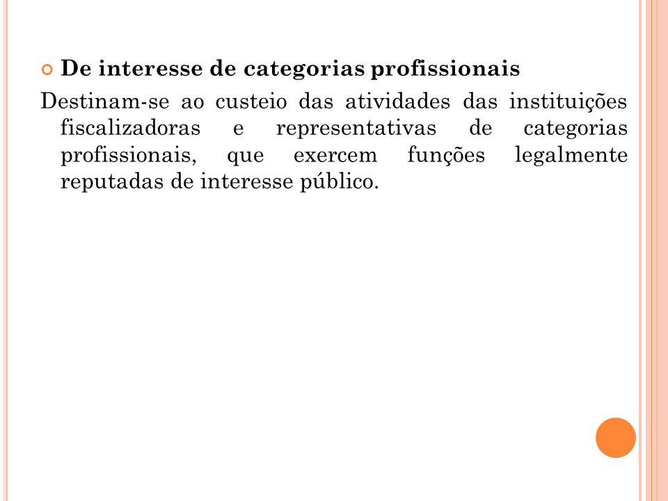 De interesse de categorias profissionais