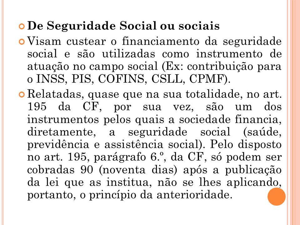 De Seguridade Social ou sociais