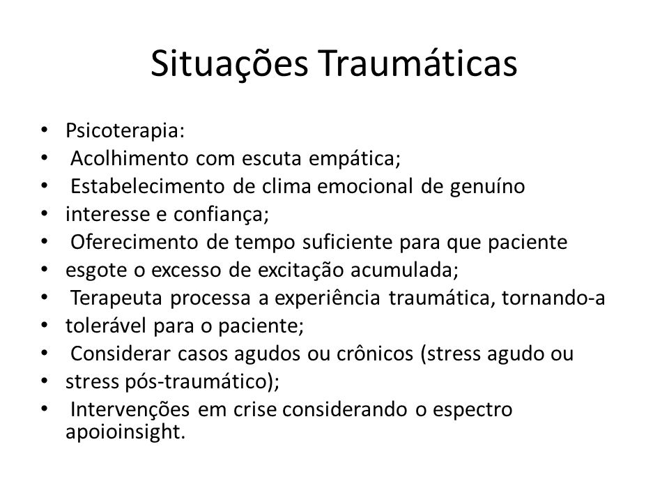 Situações Traumáticas