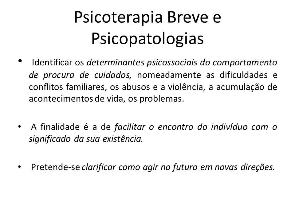 Psicoterapia Breve e Psicopatologias