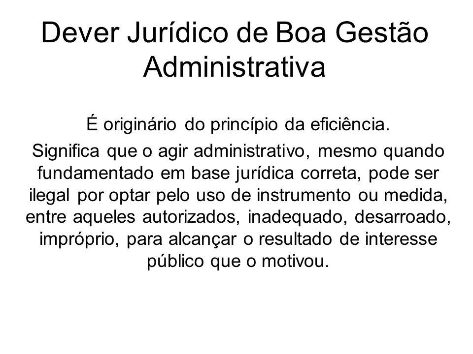 Dever Jurídico de Boa Gestão Administrativa