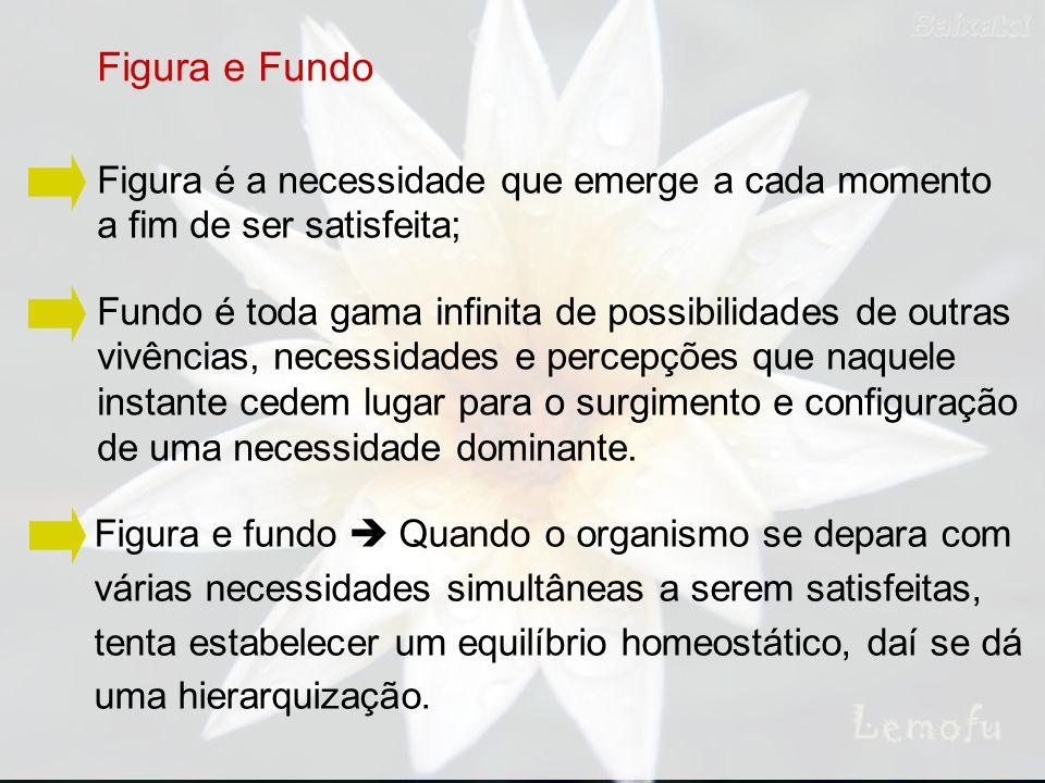 Figura e Fundo Figura é a necessidade que emerge a cada momento