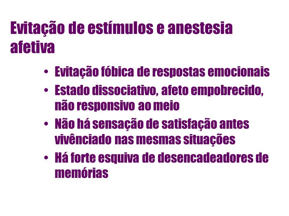 Evitação de estímulos e anestesia afetiva