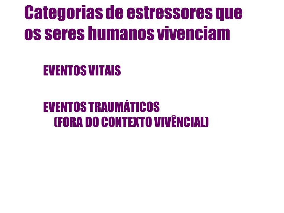 Categorias de estressores que os seres humanos vivenciam
