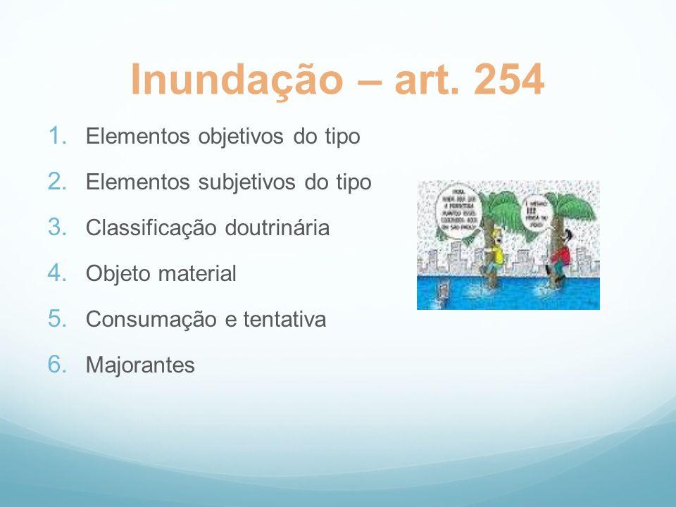 Inundação – art. 254 Elementos objetivos do tipo