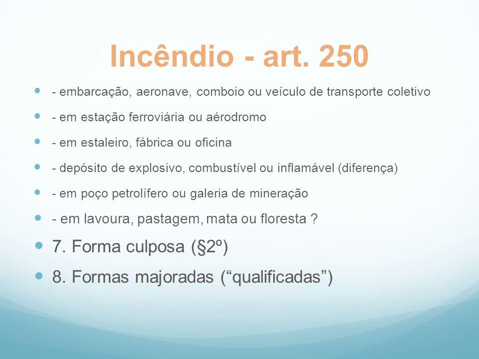 Incêndio - art. 250 7. Forma culposa (§2º)