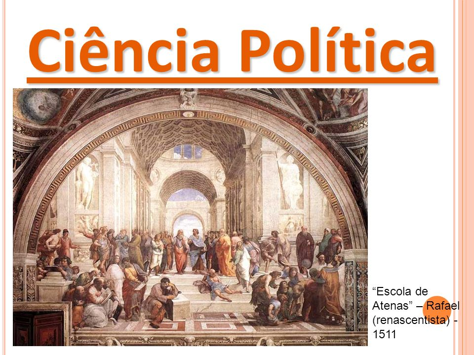 Ciência Política Escola de Atenas – Rafael (renascentista) - 1511