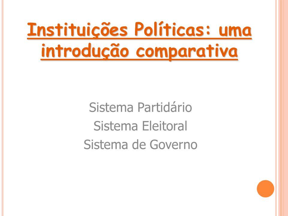Instituições Políticas: uma introdução comparativa