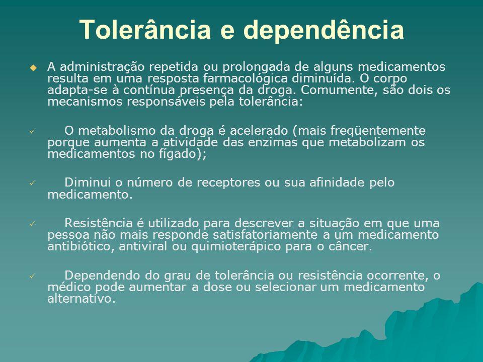 Tolerância e dependência