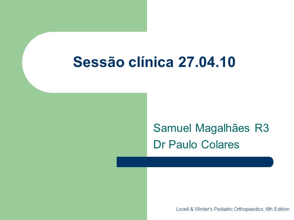 Samuel Magalhães R3 Dr Paulo Colares