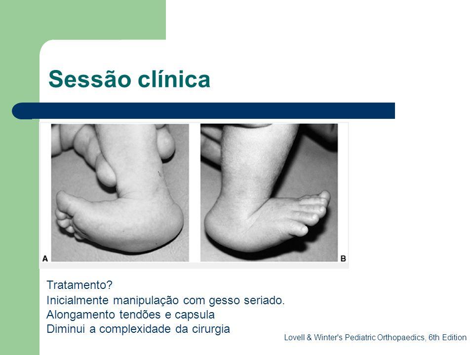 Sessão clínica . Tratamento