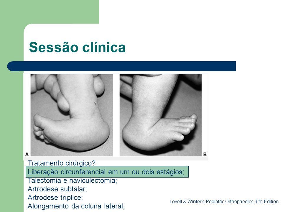 Sessão clínica . Tratamento cirúrgico