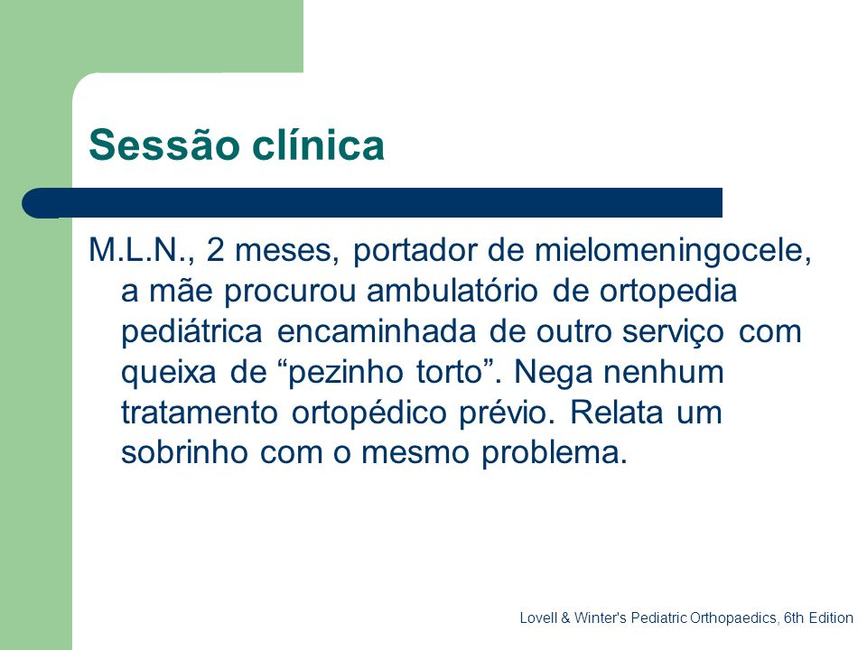 Sessão clínica