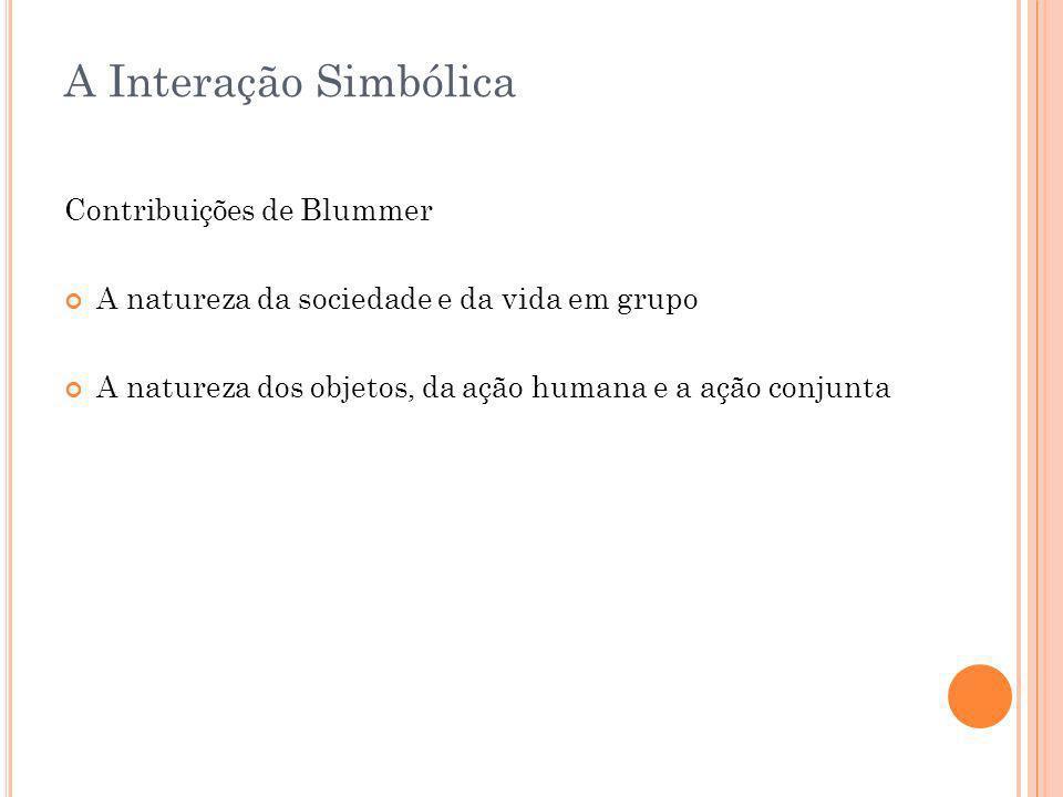 A Interação Simbólica Contribuições de Blummer