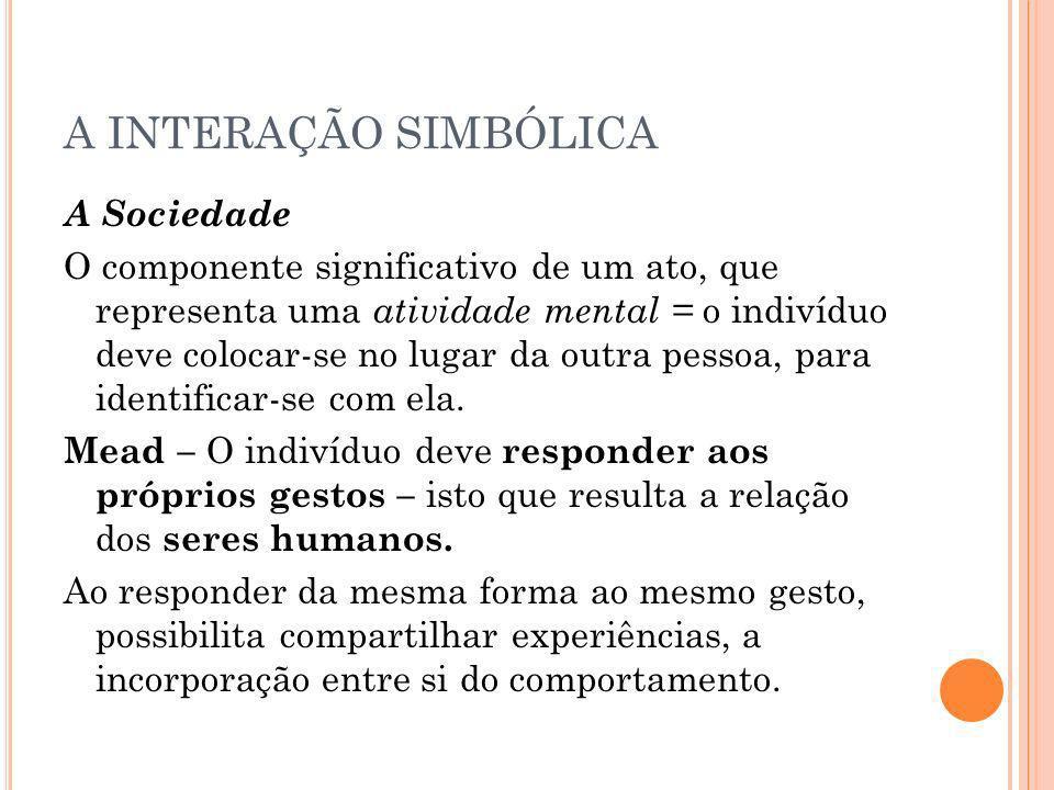 A INTERAÇÃO SIMBÓLICA