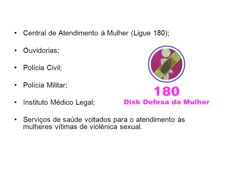 Central de Atendimento à Mulher (Ligue 180);
