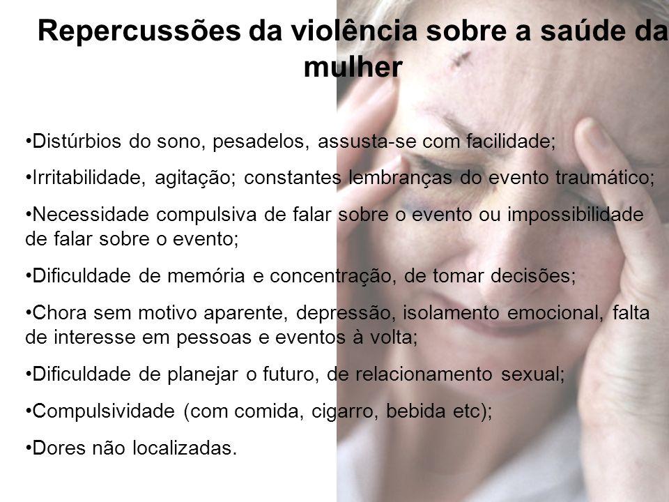 Repercussões da violência sobre a saúde da mulher