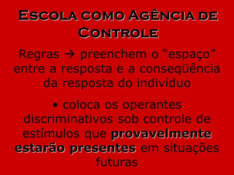 Escola como Agência de Controle