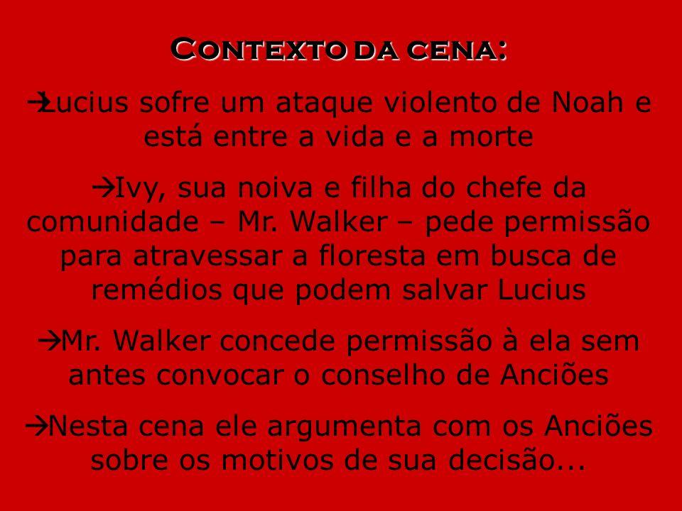 Lucius sofre um ataque violento de Noah e está entre a vida e a morte