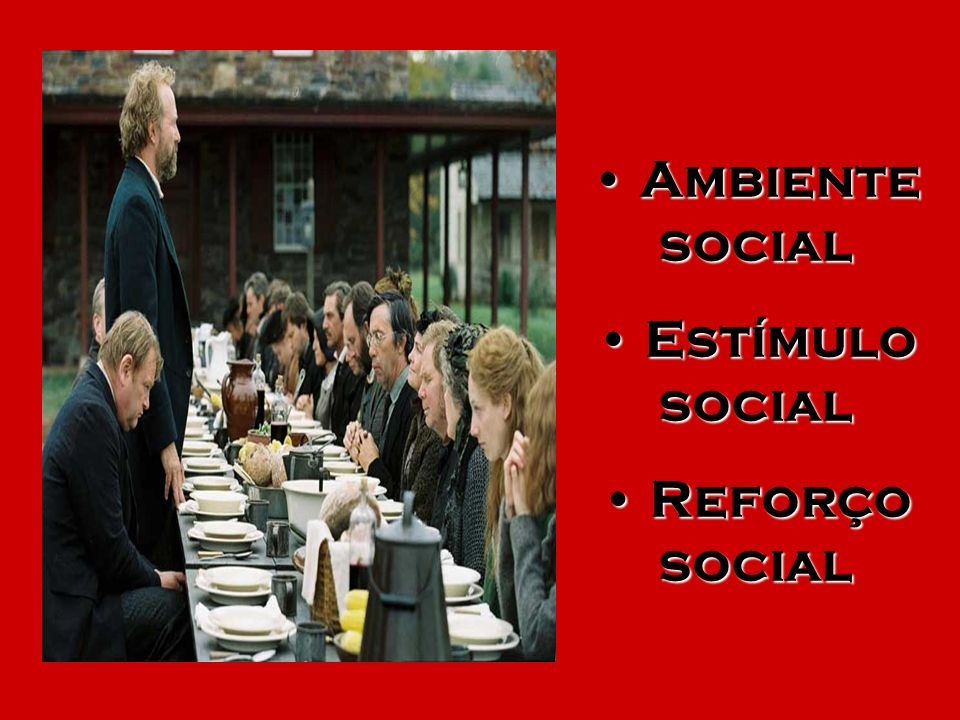 Ambiente social Estímulo social Reforço social