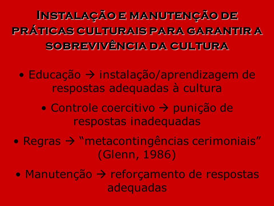 Instalação e manutenção de práticas culturais para garantir a sobrevivência da cultura