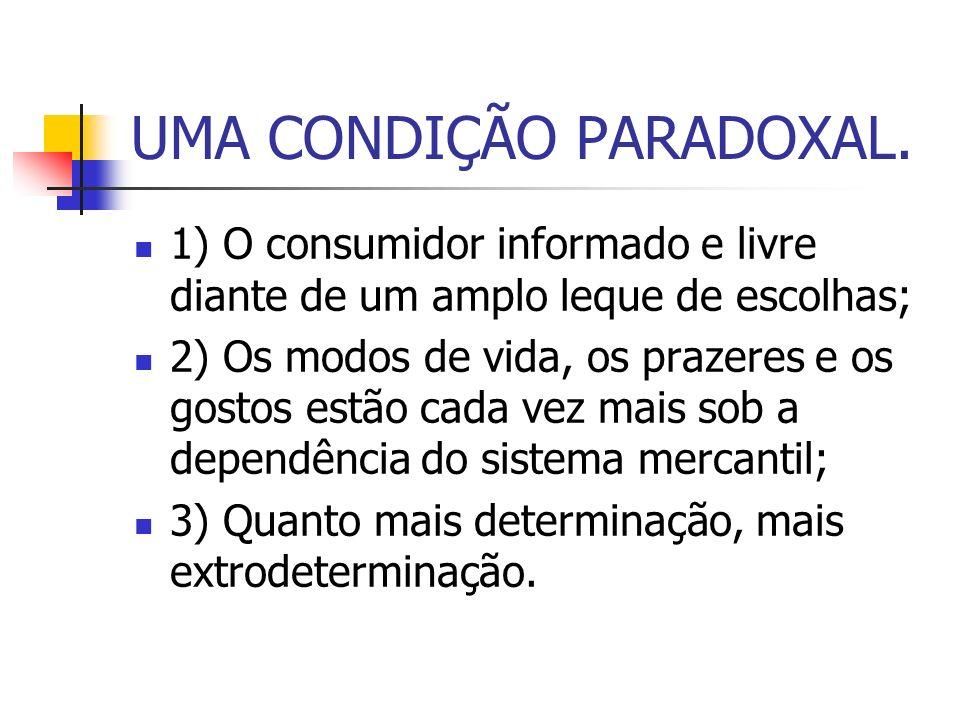 UMA CONDIÇÃO PARADOXAL.
