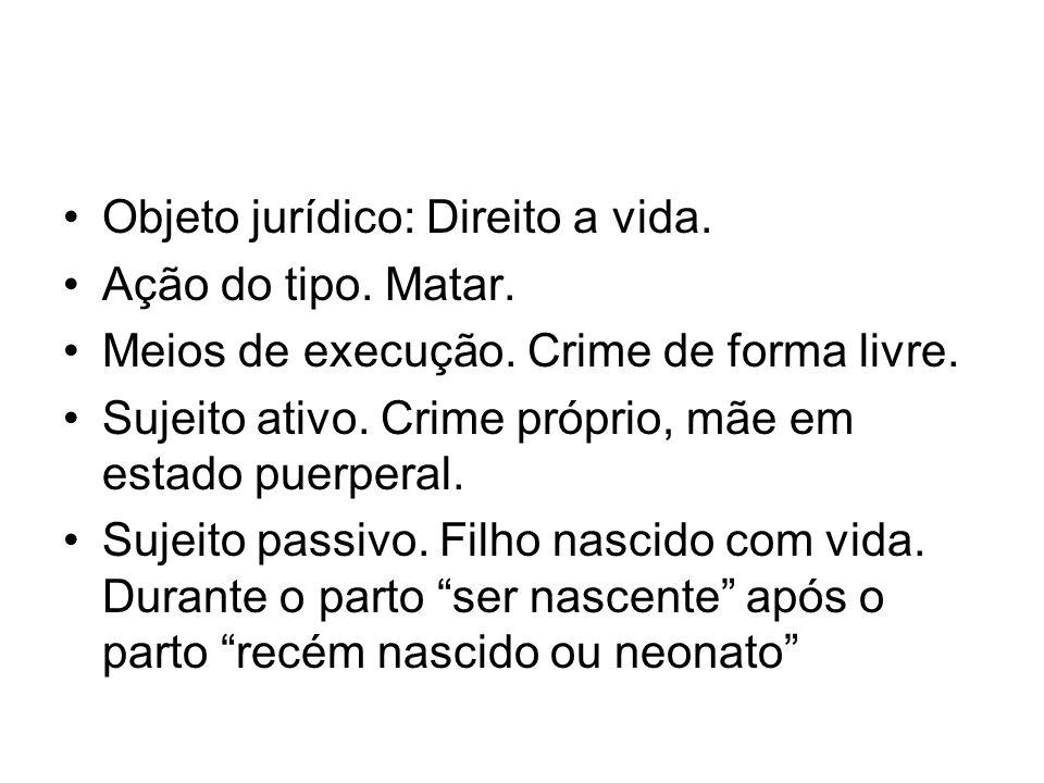 Objeto jurídico: Direito a vida.