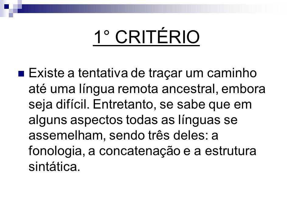 1° CRITÉRIO