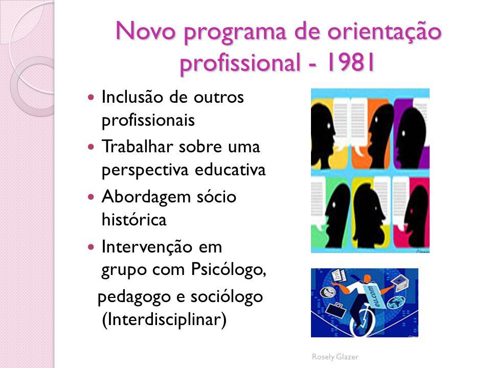 Novo programa de orientação profissional - 1981