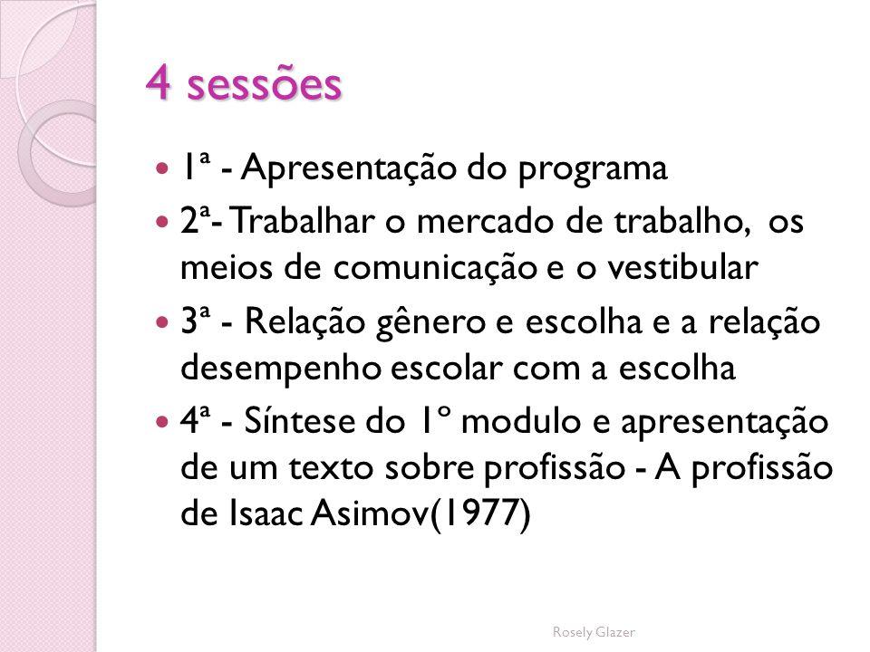 4 sessões 1ª - Apresentação do programa